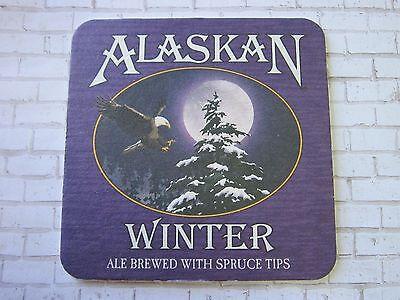 Bier & Bierdeckel Bier & Brauerei Bier Untersetzer ~ Alaskan Gär Co Winter Ale Brewed Mit Fichte Spitzen ~ Juneau