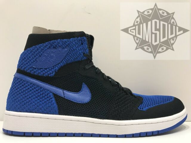 pretty nice d906a ab87f Nike Air Jordan 1 Retro High Flyknit Size 12 Shoes Black   Royal 919704 006