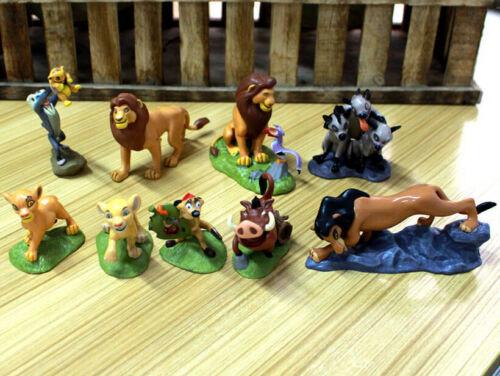 set of 9 pcs The Lion King Disney Cake Topper Action figures Movie Toy Set Simba