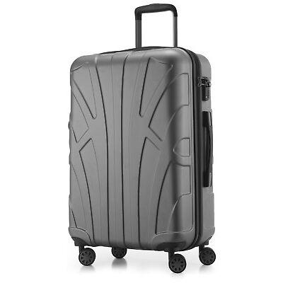 Suitline Hartschalen-Koffer Trolley Rollkoffer Reisekoffer 4 Rollen TSA 53 Liter