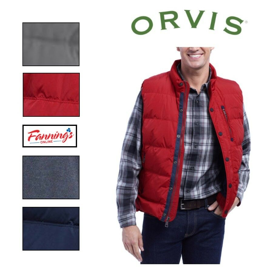 SALE  NEW Orvis Men's Essex Down Puffer Vest VARIETY SIZE & COLOR Free Shipping