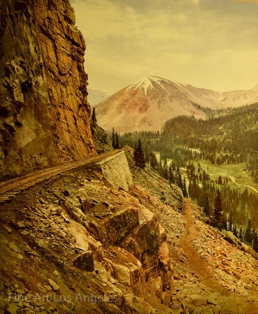 William Henry Jackson Photo, The Palisades Alpine Pass, Co. chromograph 1899