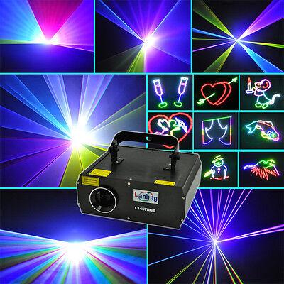 1W RGB DMX Full Color ILDA Animation Laser Light DJ Stage Effect 1 Watt 1000mW W