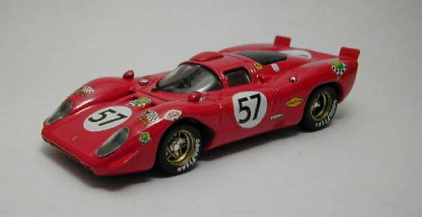 Ferrari 312 P Coupe'  57 10th Lm 1970 Adamovicz   Parson 1 43 Model BEST MODELS