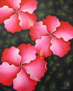 Hand-painting-Balinese-Bali-Flower-Great-Detail-170