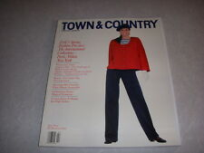 TOWN & COUNTRY Magazine, February, 1989, INTERNATIONAL FALL FASHION PREVIEW!