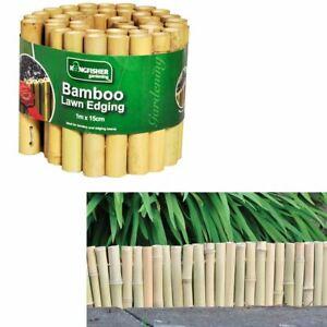 Wood-Bamboo-Lawn-Garden-Grass-Gravel-Path-Driveway-Edging-Edge-Boarder-Fence