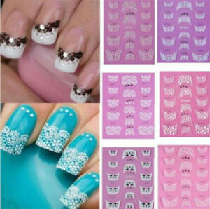 3D-Transfer-Lace-Design-Nail-Art-Tips-Stickers-DIY-Manicure-Decal-Decoration-NEW