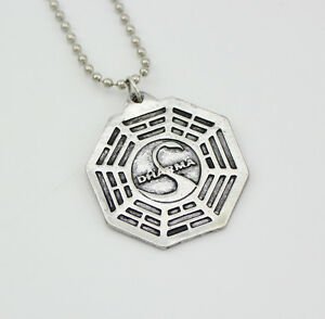 Dharma Initiative Lost Series Orientation Swan Station Octagon Necklace