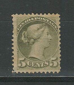 Canada 1876 ☀ 5c Olive green - Queen Victoria - Sc. 800 $ ☀ MH