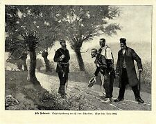 H.von Scholten (Alte Bekannte * Pennbrüder & Soldat) Dekorative Graphik von 1901