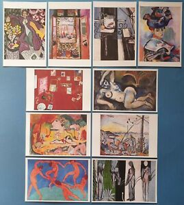 Beautiful-Set-of-10-NEW-Henri-Matisse-Art-Paintings-Postcards-Prints-22M
