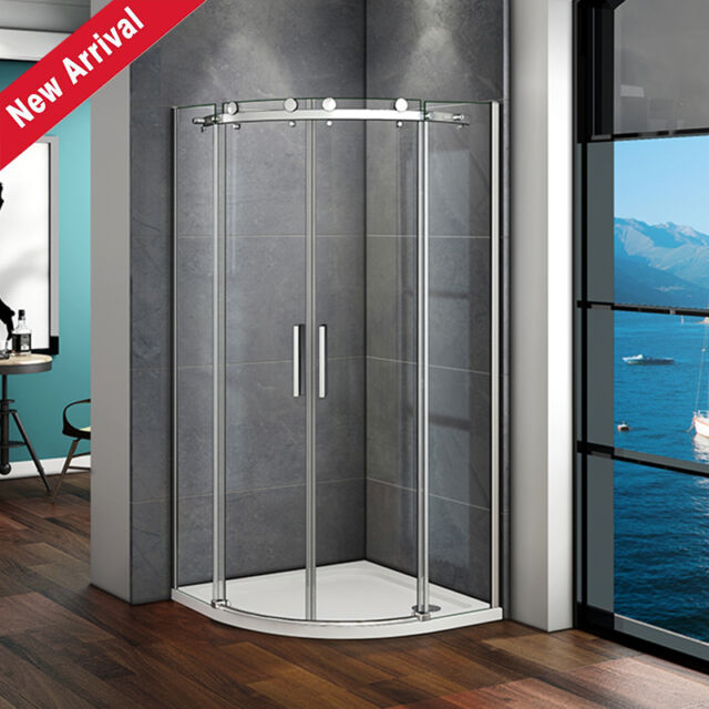 900x900 Quadrant Shower Enclosure And Tray 1950 Glass Corner Cubicle Big Rollers