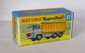 Vornehm Repro Box Matchbox Superfast Nr.47 Daf Tipper Container Truck Von Der Konsumierenden öFfentlichkeit Hoch Gelobt Und GeschäTzt Zu Werden Autos, Lkw & Busse