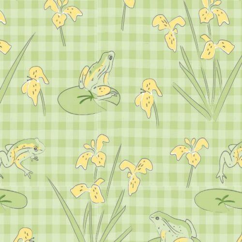 100/% Coton Tissu-Fat Quarter//mètre Lily Pad par Debbie Shore