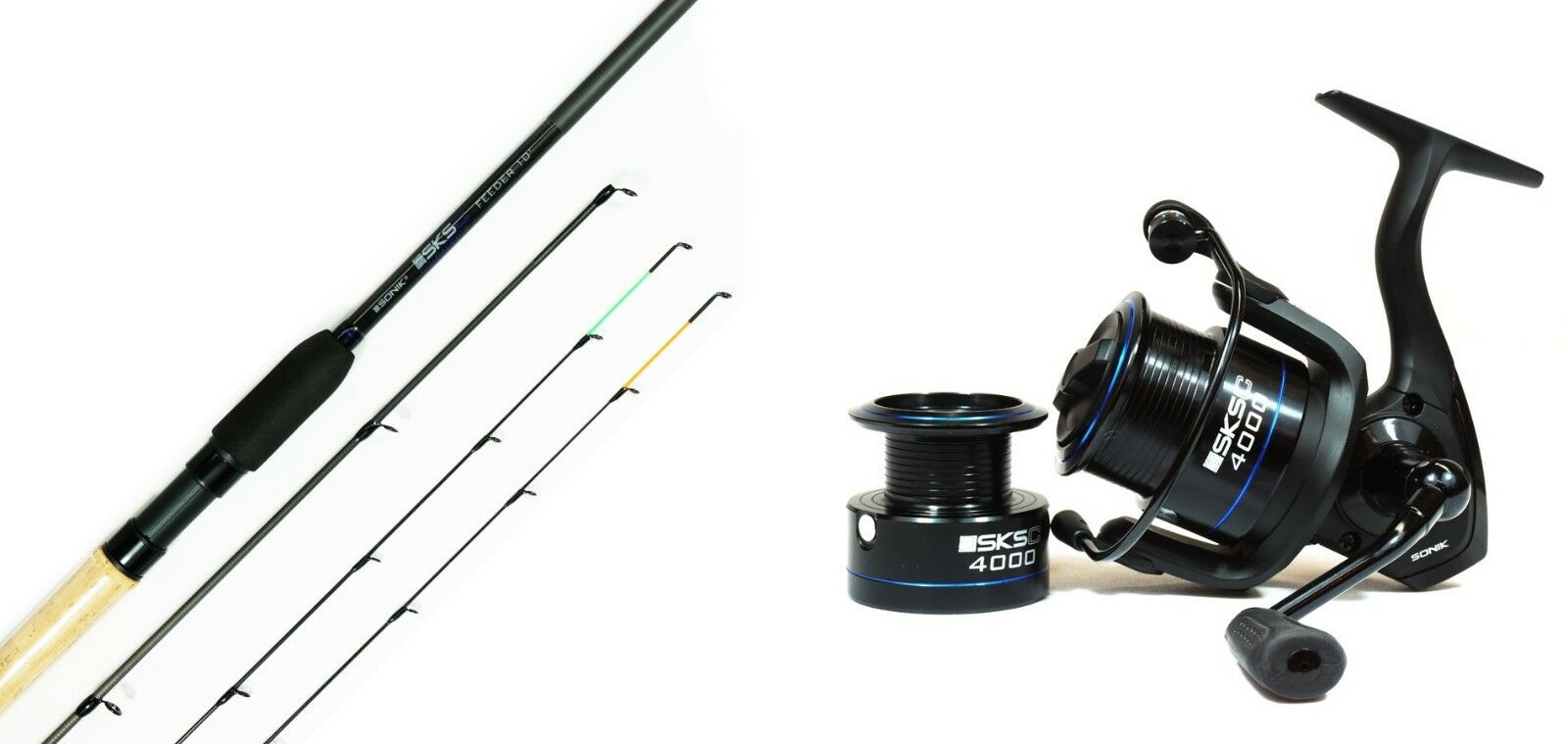 Sonik SKSC 11ft Commercial Feeder Rod + Sonik Commercial Reel Combo Fishing
