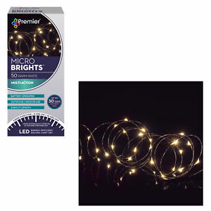 Christmas-50-Micro-Brights-Battery-Timer-LED-Lights-Indoor-Outdoor-Warm-White