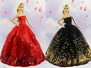 Red Fashion Royalty Princess Party Dress//Clothes//Gown For 11.5in.Doll S151