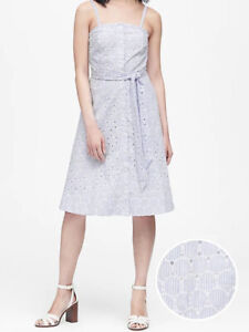 NWT-Banana-Republic-New-139-00-Women-Eyelet-Button-Down-Dress-Size-4