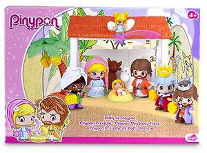 Pinypon-Belen-Portal-de-Belen-Pinypon-Jugar-en-Navidad-Juguete-Nino-Nina