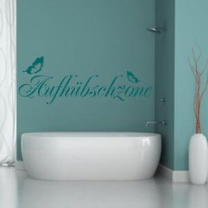Details zu Wandtattoo AA218 Badezimmer++AUFHÜBSCHZONE++Spiegel Spruch Deko  Fliesen