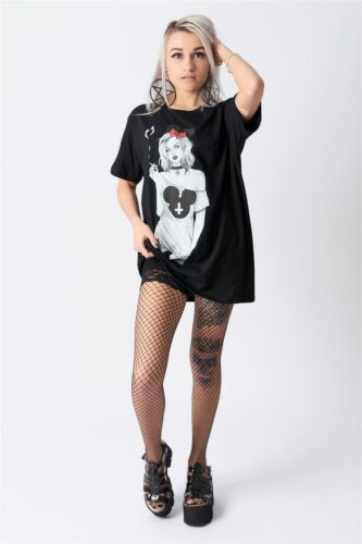 Emo Alternative Smoking Girl Twisted Morning Black Gothic T Shirt