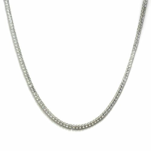 Tennis necklace platinum plated cz square cut 4mm silver 24 inch tennis necklace platinum plated cz square cut 4mm silver 24 inch chain aloadofball