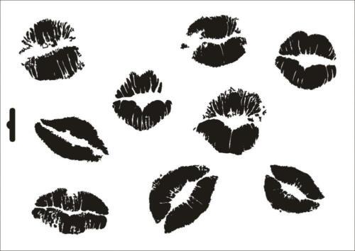 Stencil W-110 Lips ~ UMR Wall Stencil