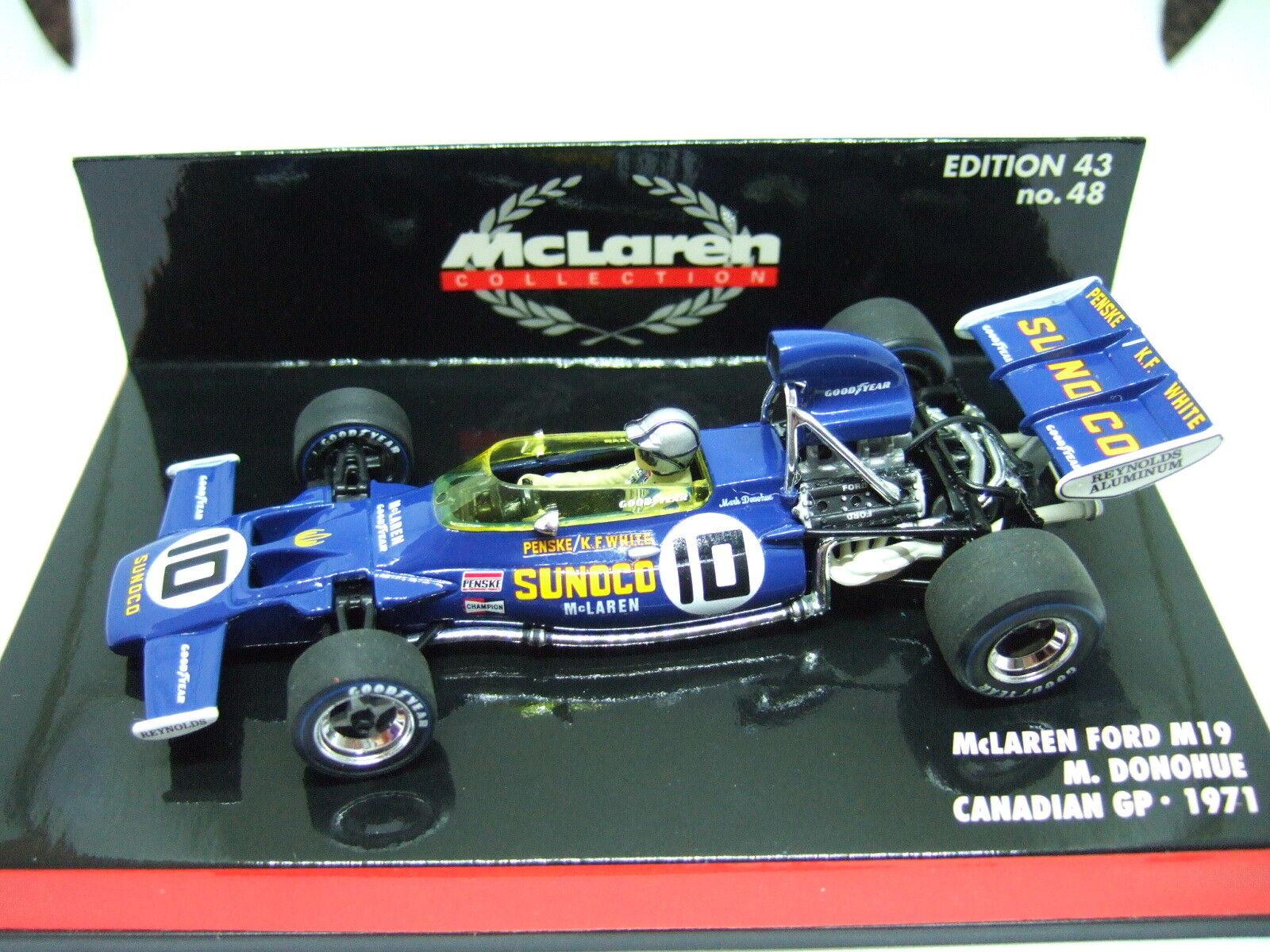 MINICHAMPS Mark Donohue McLaren Ford M19 Canadian GP 1971 1 43