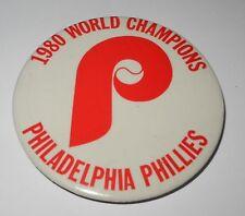 1980 Baseball Pin/Coin Philadelphia Phillies World Series Champions Pinback v8