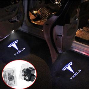 Details about 2 Car Door LED Puddle Courtesy Light Projector White For  TESLA MODEL X S 3 14-18