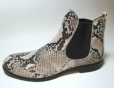 Gallucci 30029 Stiefeletten Chelsea Boots Veloursleder Oliv Grün Gr 35-40 Neu