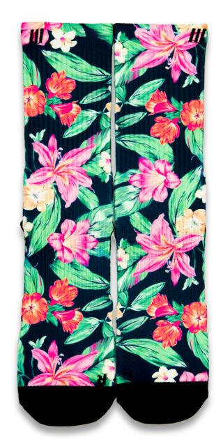 Hawaiian Floral CES Custom Socks