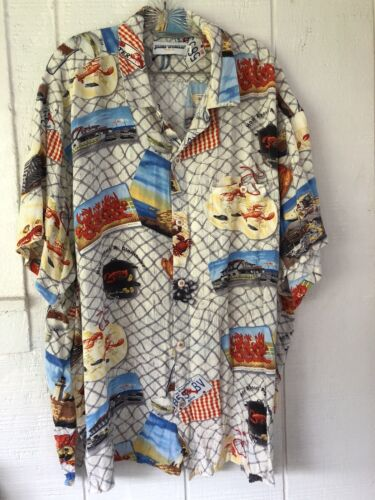 Jams World Hawaiian Lobster Shirt Rayon sz.XXXL