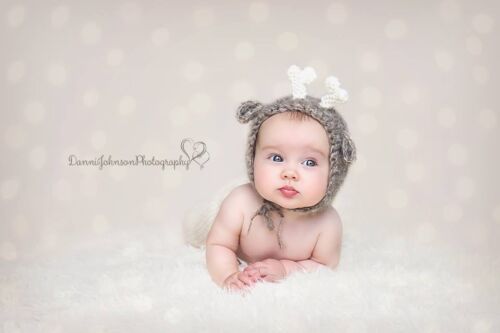 0-6 month Baby shower Photography Photo prop Fantastic Fluffy Fox Bonnet hat