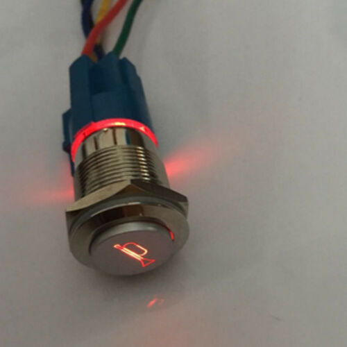 19mm 12V LED tastender Knopf Metallschalter Auto Lautsprecher Bell Horn Stecker