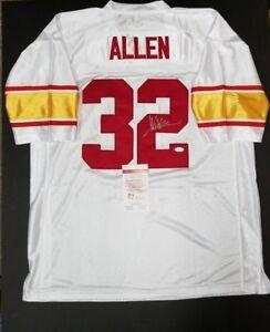 reputable site 245a4 5b602 Details about MARCUS ALLEN Signed Autograph Kansas City Chiefs Custom White  Jersey SZ XL. JSA