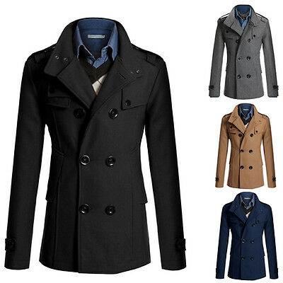 Stylish Winter Men's Slim Coat Jacket Outerwear Casual Tops Warm Blazer Overcoat