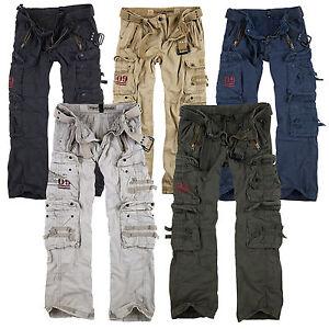 SURPLUS-Raw-Vintage-Royal-Traveler-Trousers-Premium-Cargo-Pants-Hose-Airborne