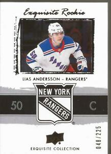 LIAS-ANDERSSON-2018-19-Black-Diamond-Exquisite-Retro-Rookie-48-225-Rangers-NY