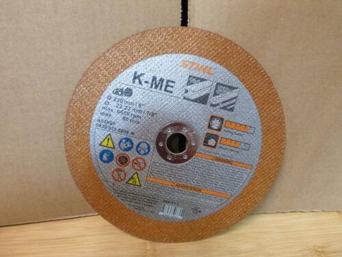 "Metal Abrasive Saw Blade Cut Off Wheel 7//8/"" 6650 RPM 08350128000 Stihl 9 in"