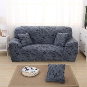 Details about Easy Stretch 3 Seater Sofa Cover Slipcover Furniture  Protector Sapphire Gray