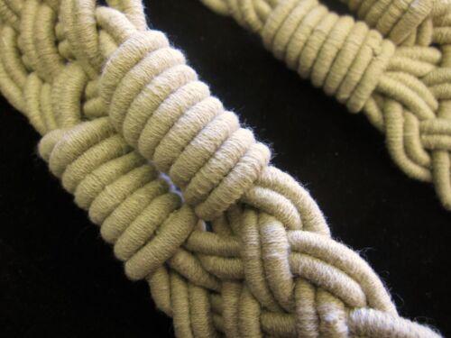 Pair of large plaited clay coloured cotton curtain tassel tie backs tiebacks