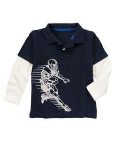 NWT Gymboree Junior Linebacker Football Helmet Tees Shirt T-Shirt NEW Boys 7 8