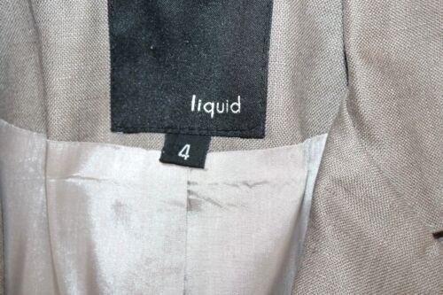 Lino Con Liquid Manica 100 Cintura Khaki s Beige 4 Giacca 4 3 BwwzfXq