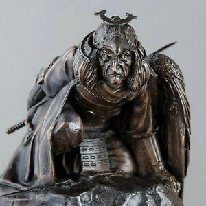 bronze-statuette-KARASU-TENGU-Ninja-rze-ba-autorska-24-cm-22-5-cm-28-cm