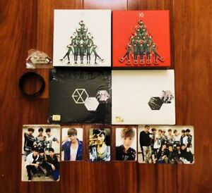 Exo Christmas Album Cover.Details About Rare Exo Album Set Mama Miracles In December W 5 Official Photocards Kai Sehun