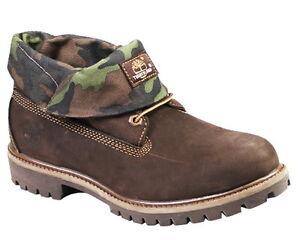 71ef6b1926d5 TIMBERLAND Roll-Top Nubuck Red Briar Nubuck Camo Brown Men Boots ...