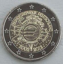 """2 Euro Deutschland F 2012 """"10 Jahre Euro"""" unz"""