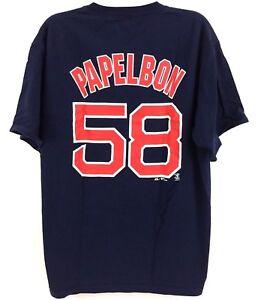 432de0b37 Jonathan Papelbon Boston Red Sox #58 Jersey T-Shirt Navy Majestic ...